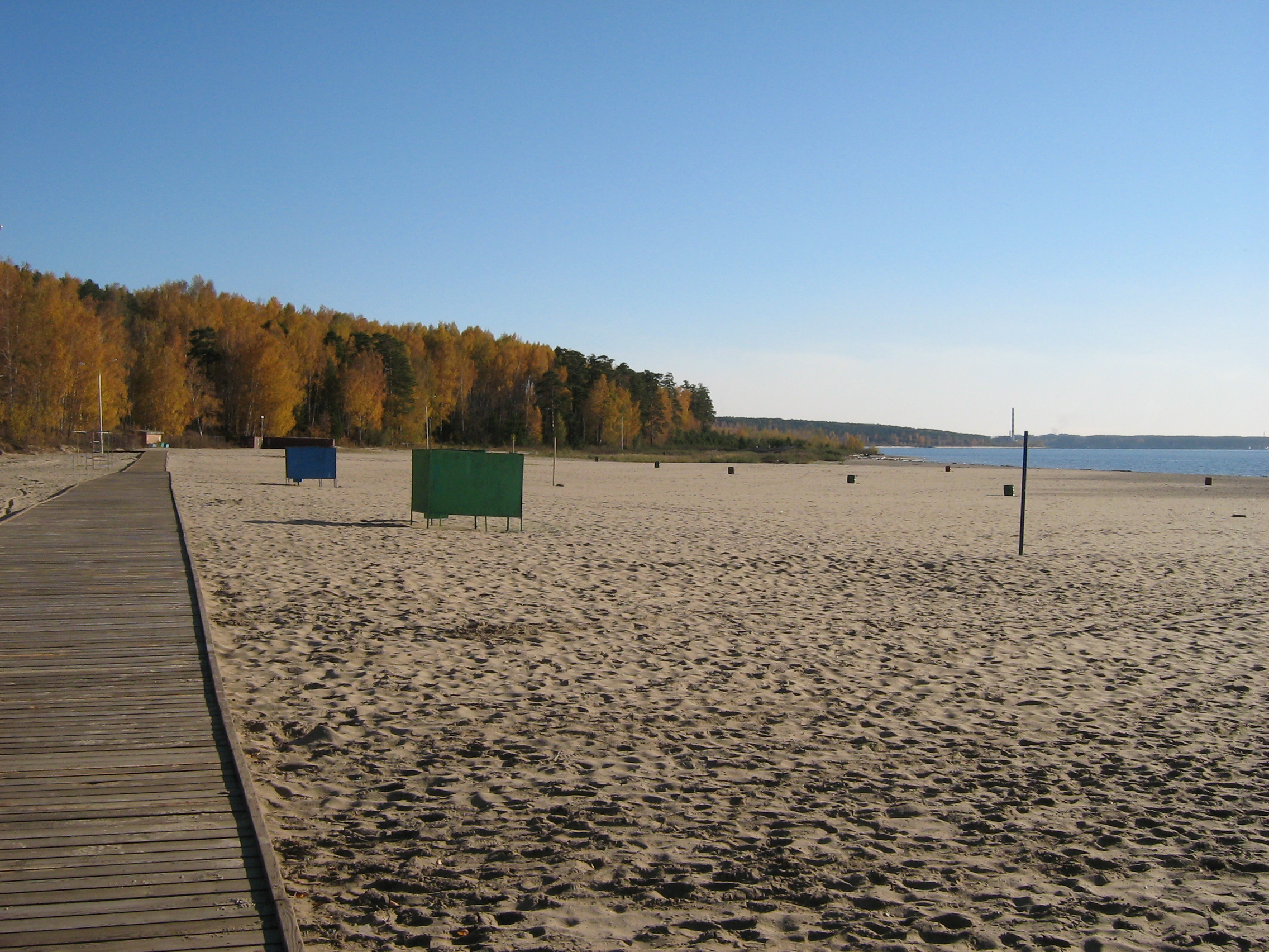 Autumn in Akademgorodok. On the beach